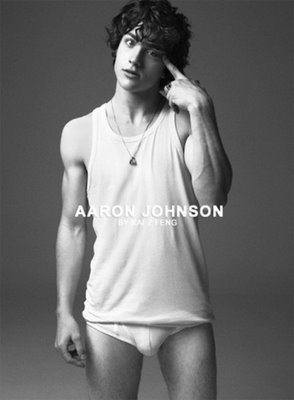 Aaron Johnson Shirtless and Underwear image