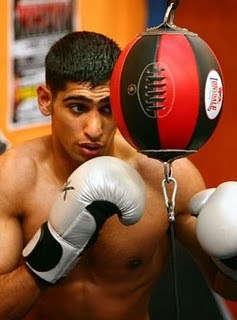 Amir Khan Shirtless and Bulging Underwear