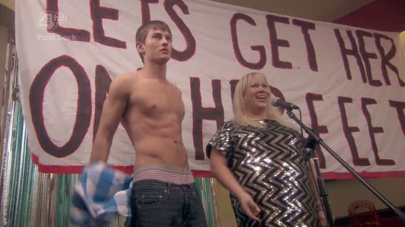 Elliott Tittensor Shirtless and Showing His Ass image