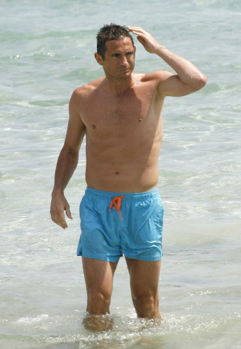 Frank Lampard Shirtless At Beach image
