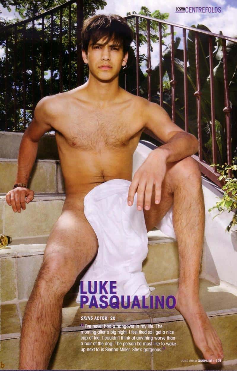 Luke Pasqualino Naked in Cosmo Centrefolds