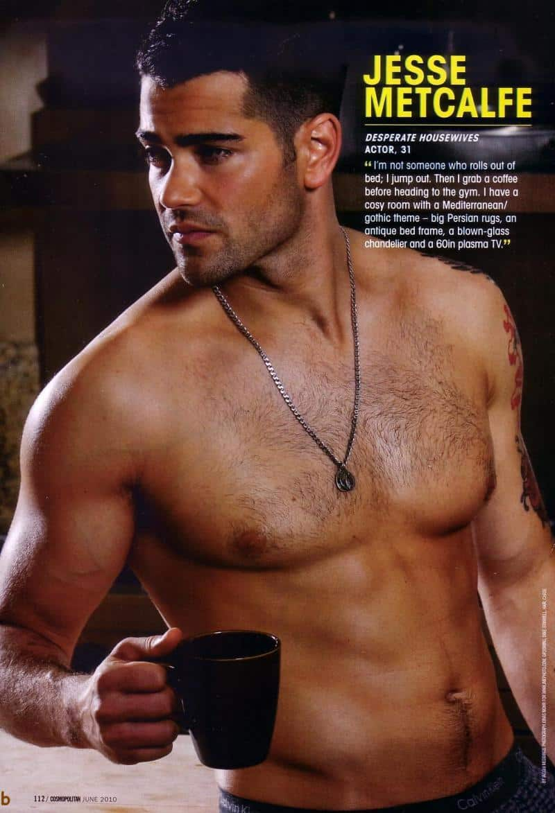 Jesse Metcalfe Shirtless in Cosmo image