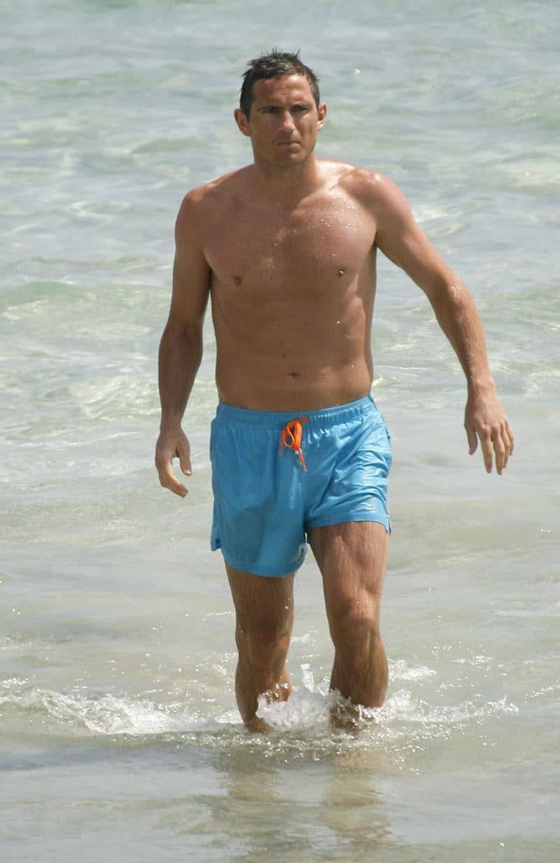 Frank Lampard Shirtless At Beach