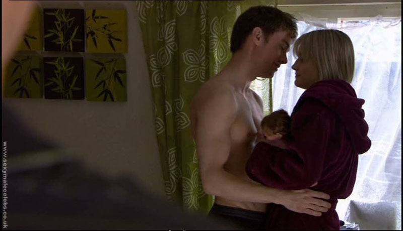 Oliver Watton Shirtless in Hollyoaks