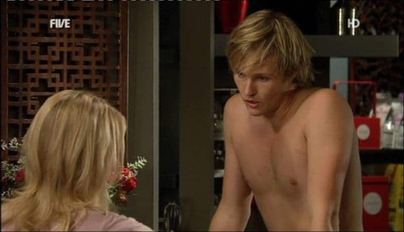 Jordan Smith Shirtless in Neighbours image