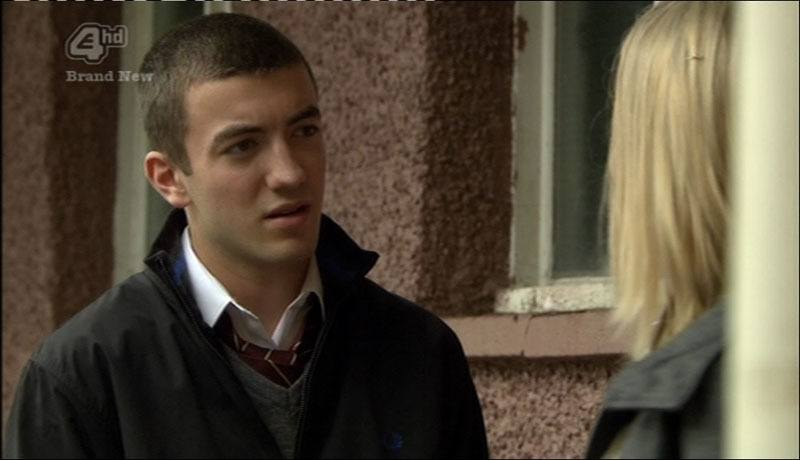 Jonny Clarke in Hollyoaks In School Uniform