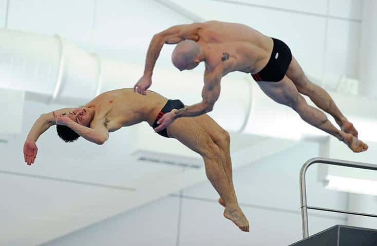 Tom Daley In Action