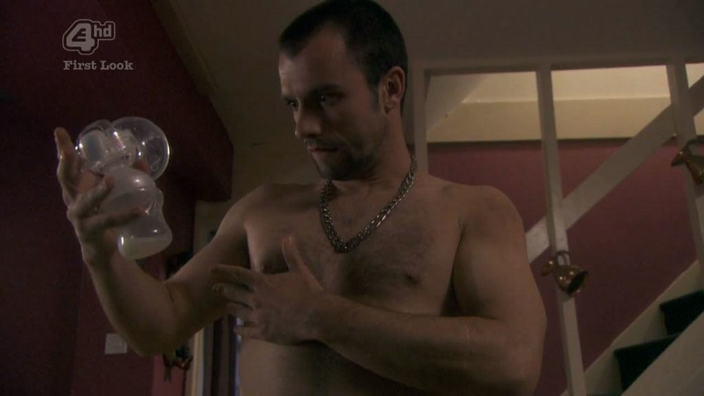 Ciaran Griffiths In Just Boxers In Shameless