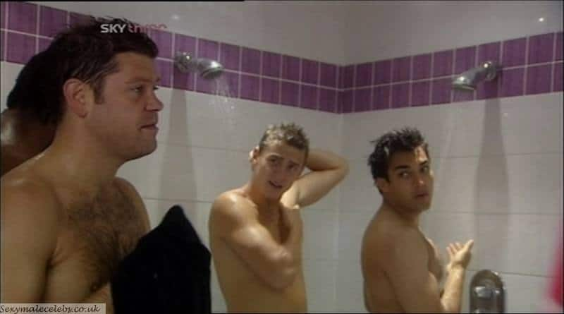 Jonathan Howard, shirtless and naked in shower