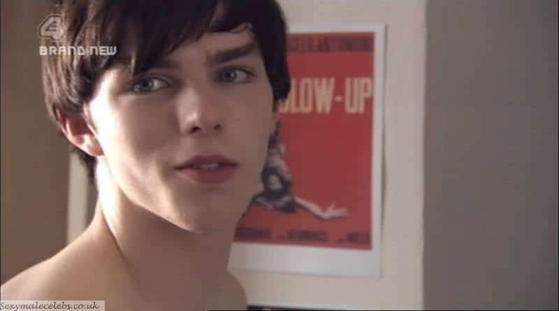 Nicholas Hoult In White Boxers image