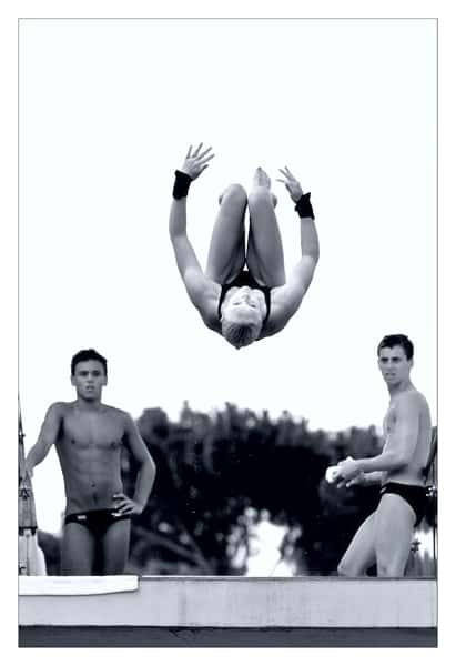 Tom Daley In Action, Shirtless In Just Speedos