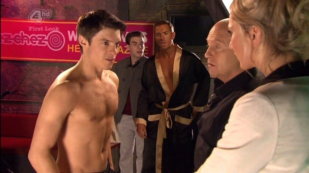 Craig Vye Shirtless In Hollyoaks