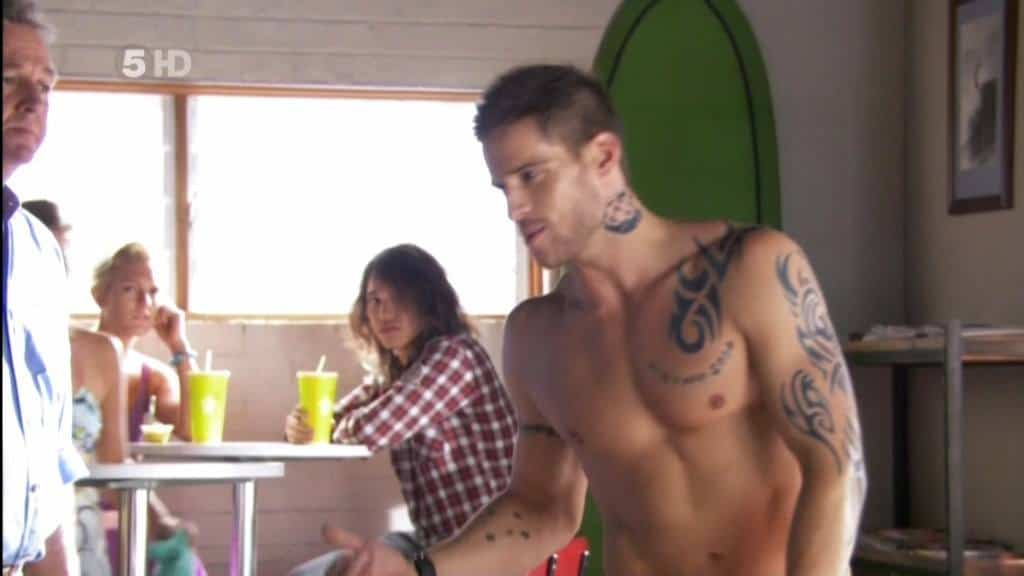 Daniel Ewing Shirtless in Home and Away