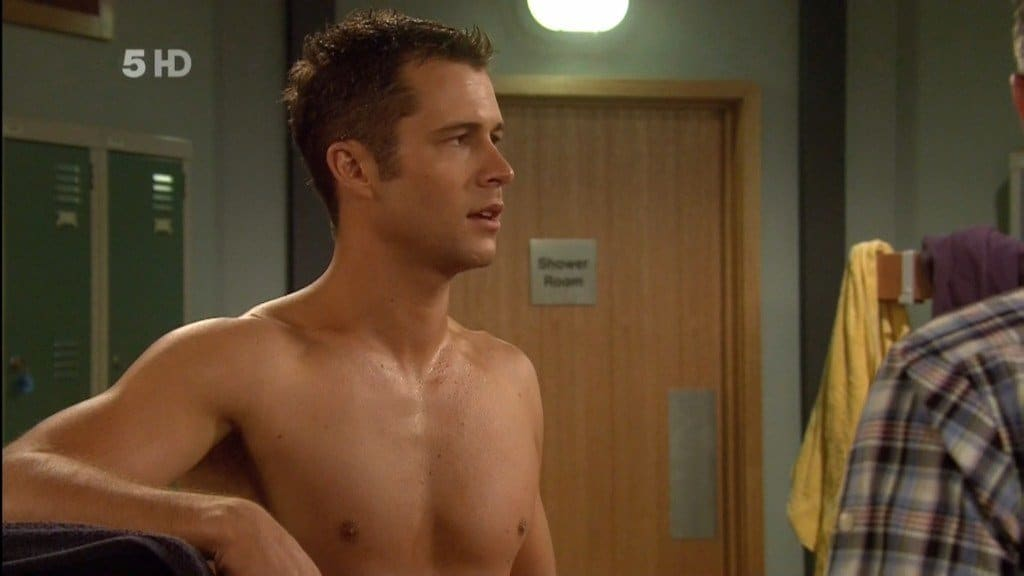 Scott McGregor Shirtless In Just A Towel image