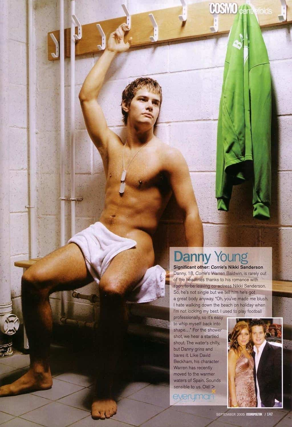 Danny Young in Cosmo Centrefold image