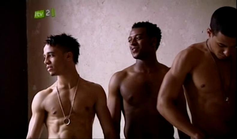 Aston Merrygold Shirtless in JLS