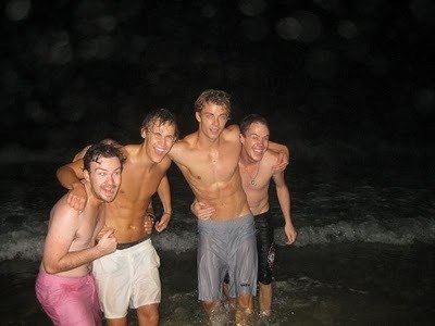 Luke Mitchell and Rhys Wakefield Shirtless Candids image