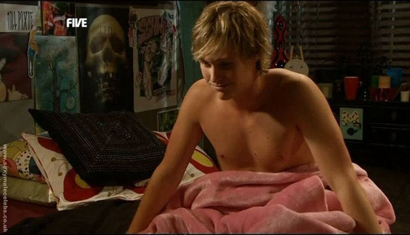 Jordon Smith Shirtless in Neighbours image