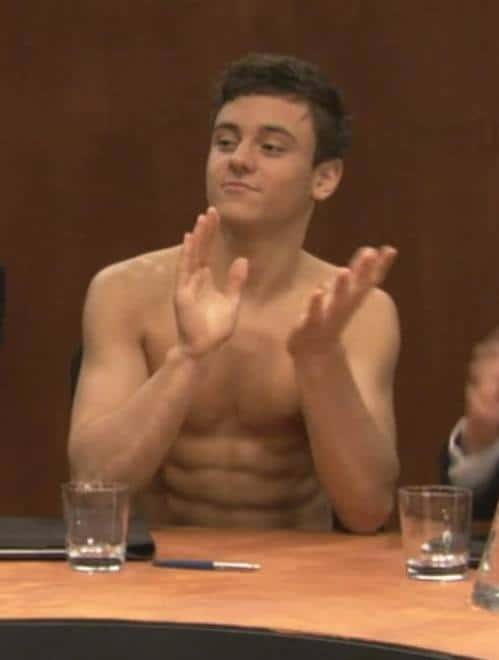 Tom Daley Shirtless On Comic Relief