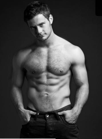 Danny Young Shirtless In Calvins Photoshoot image