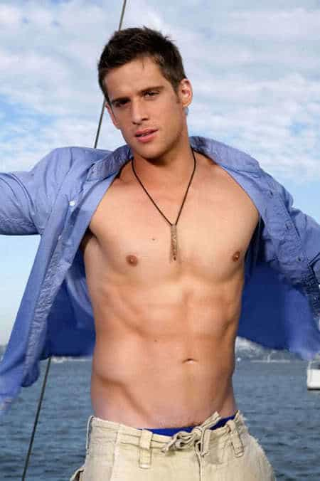 Dan Ewing Shirtless Photoshoot On A Boat image