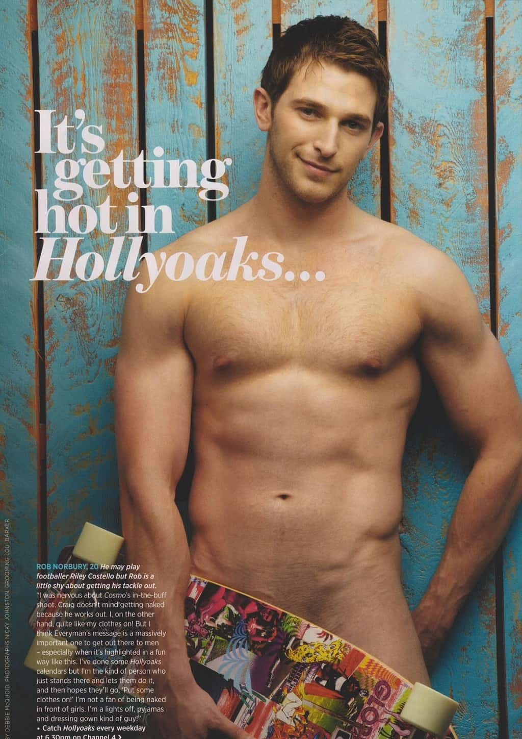 Rob Norbury Naked In Cosmo Centrefold