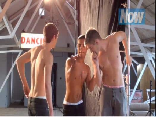Elliott Tittensor, Lucien Laviscount and Michael Socha Shirtless In NOW Mag