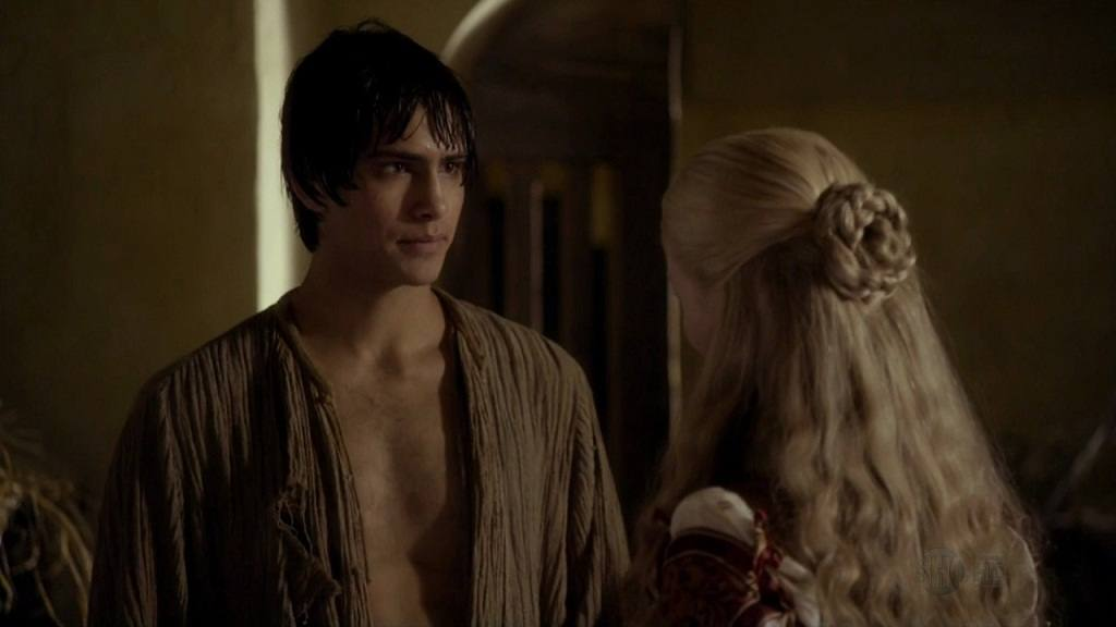 Luke Pasqualino Shirtless In The Borgias