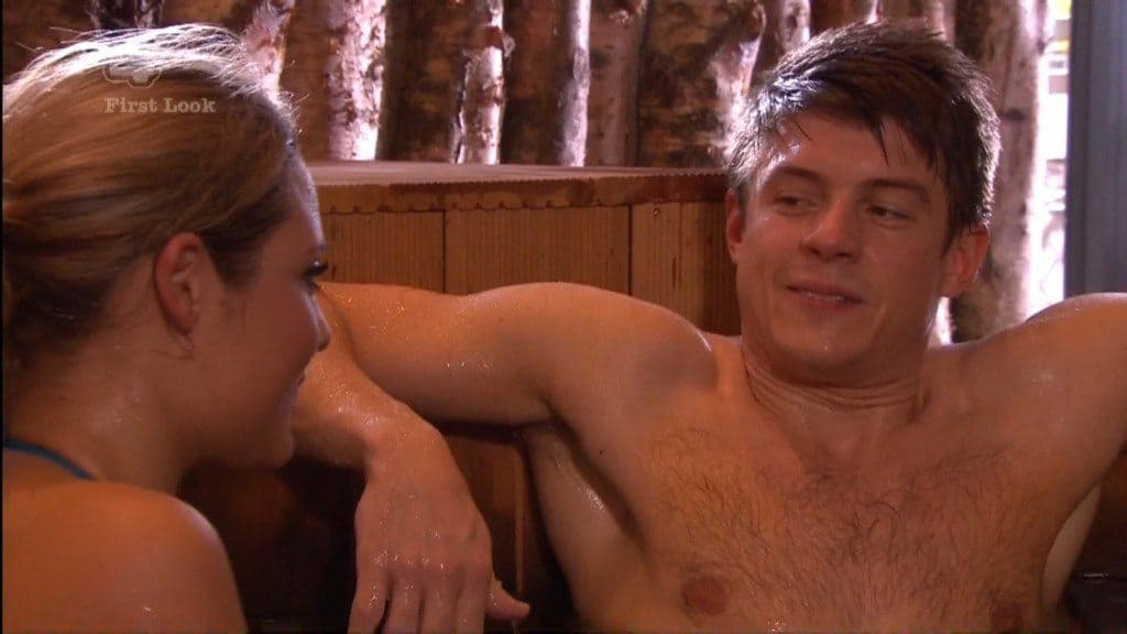 Craig Vye Shirtless In Hot Tub In Hollyoaks image