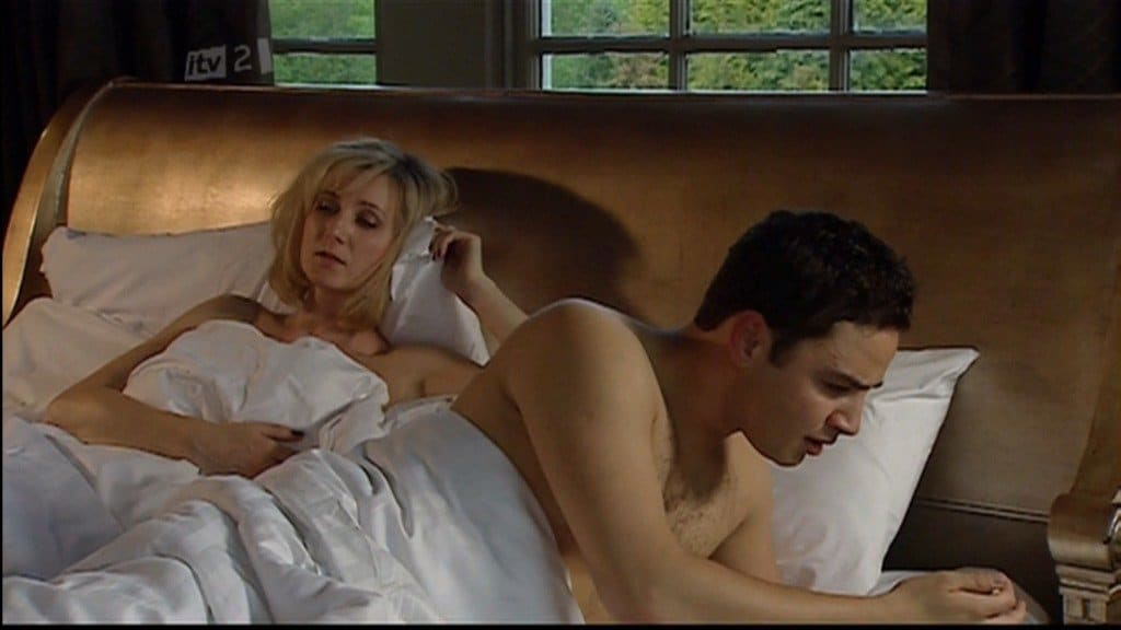 Adam Thomas Shirtless In Bed In Emmerdale