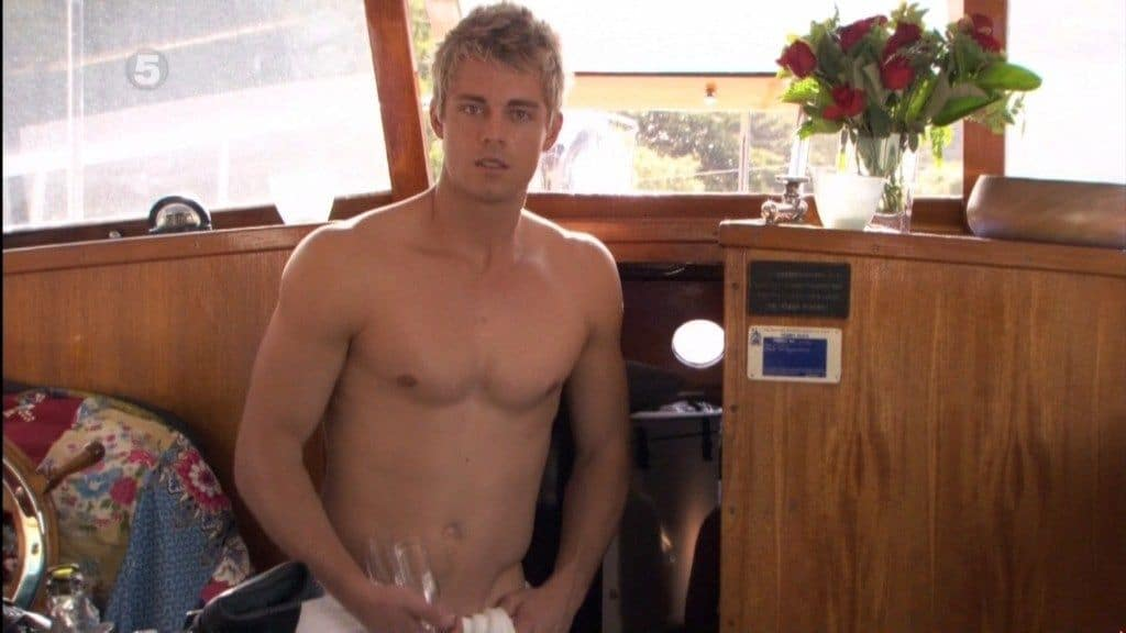 Luke Mitchell Shirtless On Boat