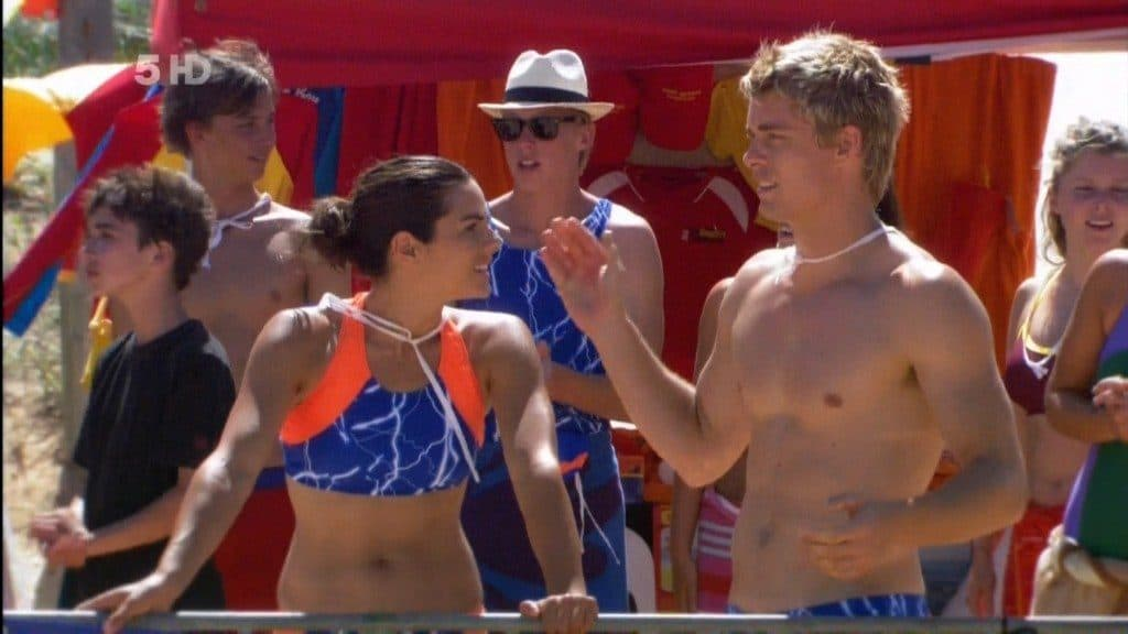 Luke Mitchell Shirtless At Carnival On Home and Away image