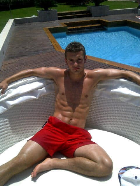 Jack Wilshere Showing Off His Abs