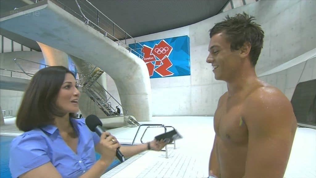 Tom Daley Dives Into Olympic Pool In Just Speedos