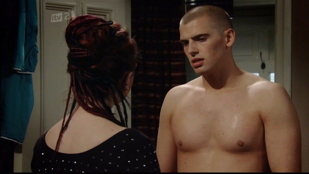 Kurtis Stacey Shirtless In Emmerdale