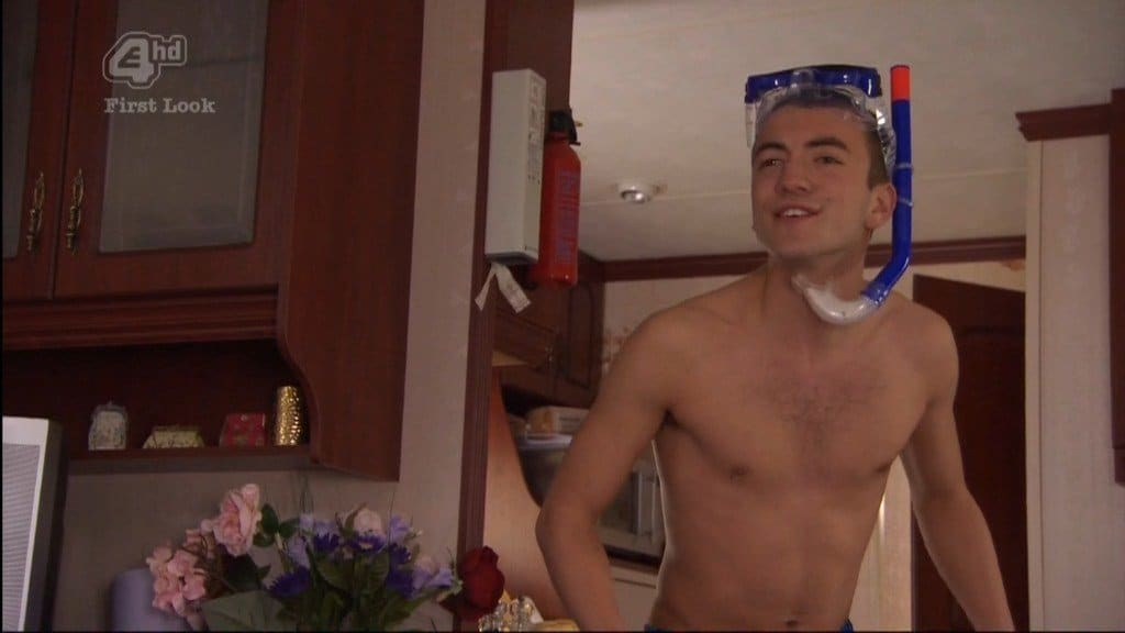 Jonny Clarke Shirtless In Just Boxers image