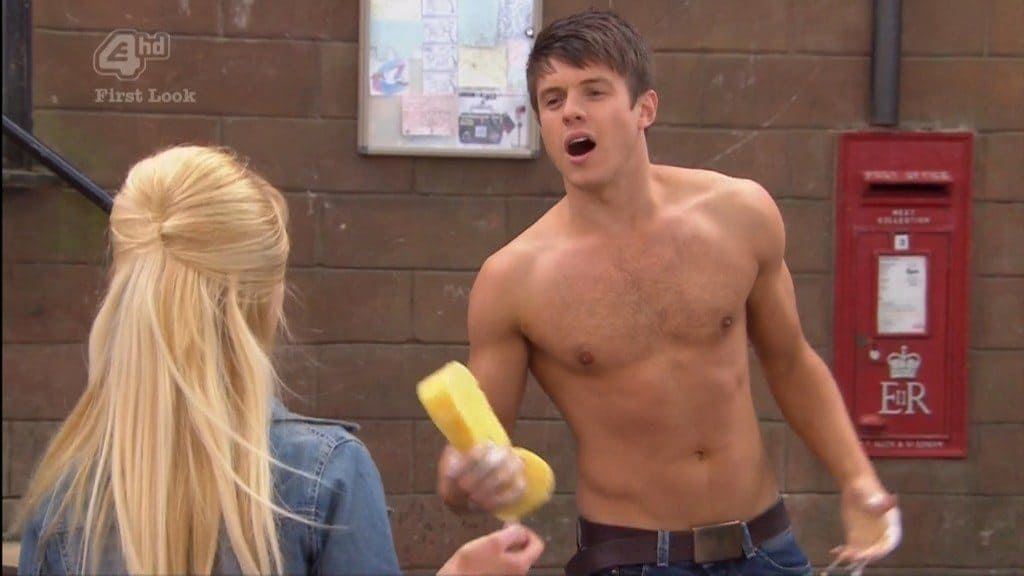 Craig Vye Shirtless In Hollyoaks image