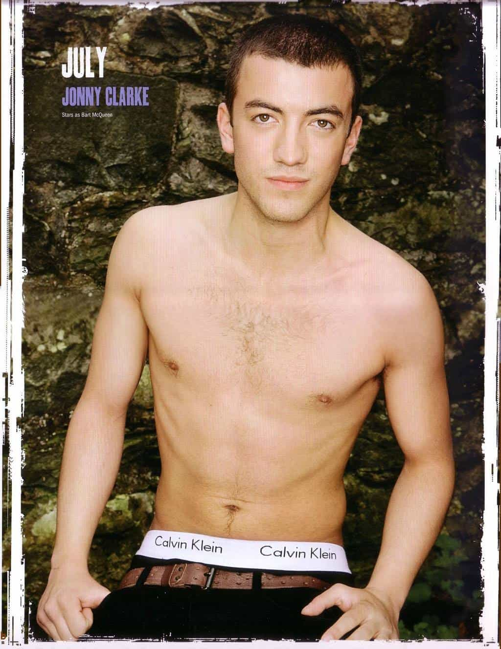 Jonny Clarke Shirtless In Hollyoaks 2012 Calender image