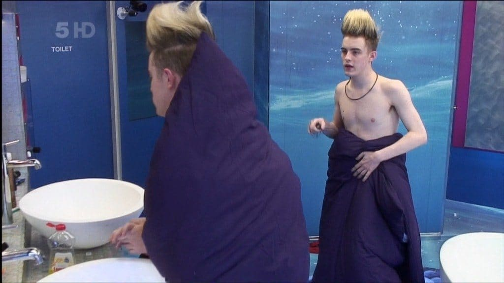 Jedward In Underwear In Celeb Big Brother