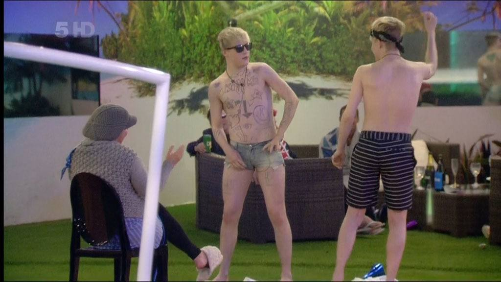 Jedward Strip Wearing Hotpants
