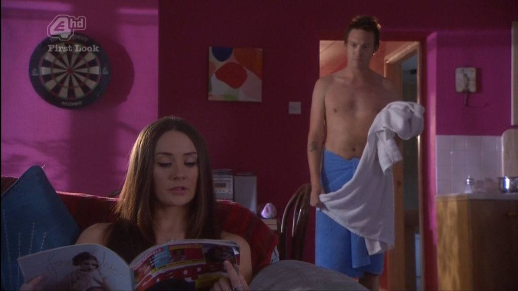 Andrew Moss Shirtless In Just Towel