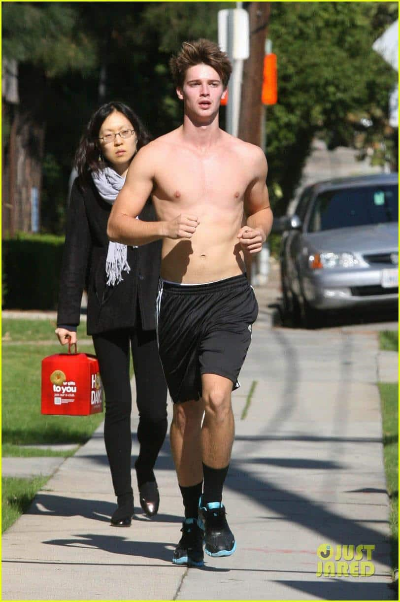 Patrick Schwarzenegger Shirtless Run image