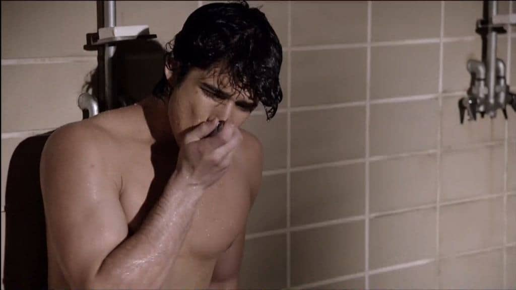 Tyler Posey Shirtless In Shower In Teenwolf image