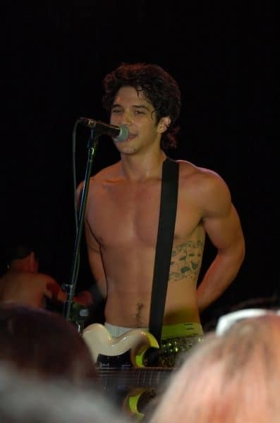 Tyler Posey Shirtless and Sweaty