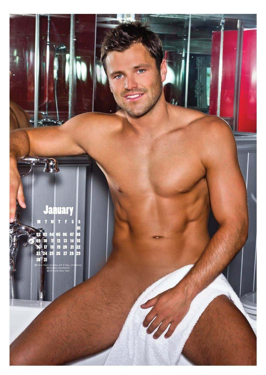 Mark Wright Shirtless Calendar Pic image