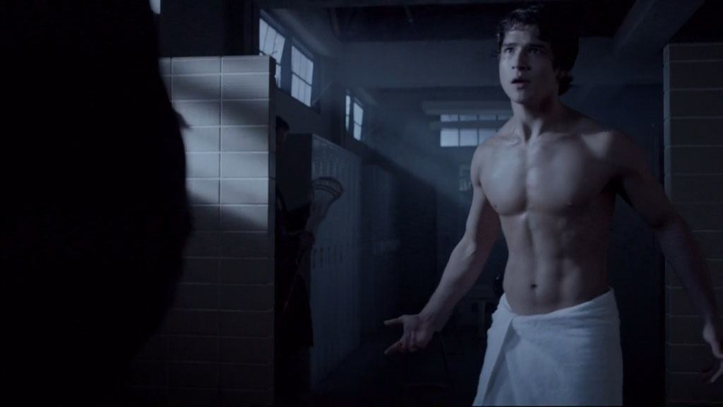 Tyler Posey In Just A Towel In Teenwolf