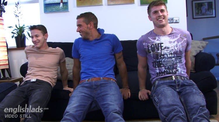 Straight Guy Dan James Gets His Cock Serviced While Dan Broughton And Darius Fernand Fuck!