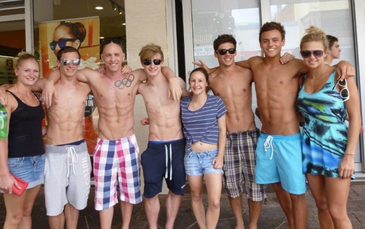 English Divers - Tom Daley, Max Brick, Jack Laugher and Chris Mears