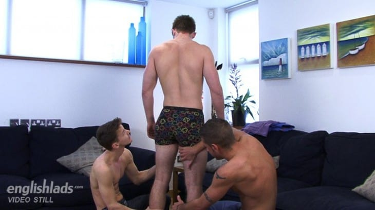 Three hot guys playing