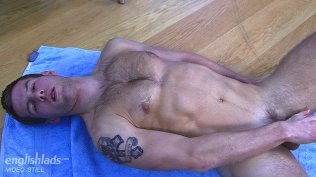 Hairy Straight Hunk Jerks Off - Jon Saunders At English Lads